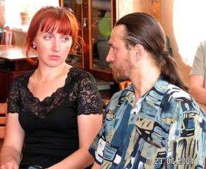 Организаторы фестиваля - Елена и Александр Дорофей