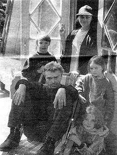 Константин Кинчев с семьей