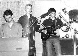 Там же. Клавиши - Славик Куликов, ритм-гитара - Гоша Протасов, бас - Коля Суняйкин
