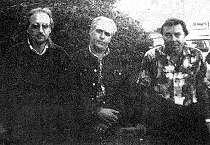 Группа ВТОРОЕ ДЫХАНИЕ август 1993 г. Слева направо: Николай ШИРЯЕВ, Игорь ДЕГТЯРЮК, Максим КАПИТАНОВСКИЙ