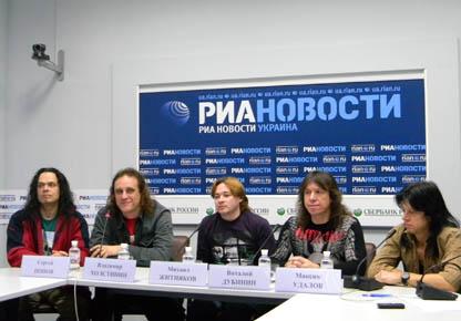 АРИЯ на пресс-конференции